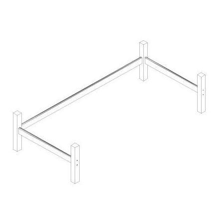 37-0003-32-09A HOPPEKIDS XXL Onderzetpoten voor halfhoog bed. Slaapmaat ca. 90 x 200 cm. KLEUR: WIT. LAATSTE BESCHIKBARE VOORRAAD, DAARNA NIET MEER IN ONZE COLLECTIE.