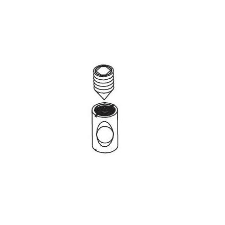 3933-15028 FLEXA Serviceonderdeel bus incl. inbusboutje voor in de verhogingspoten van bijv. onderstel halfhoogbed en poten van classic bed om deze aan elkaar te bevestigen dmv metalen pen met gaten 3934-10140. Benodigd aantal 2 stuks.