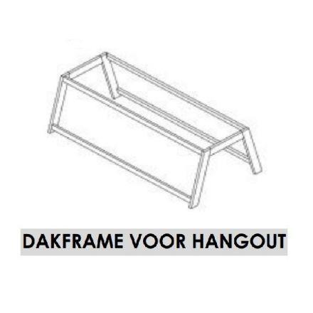 6367-10 LIFETIME DAKFRAME VOOR HANGOUT BED. KLEUR: WIT.