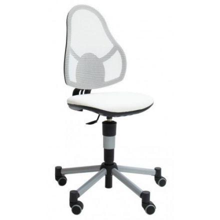 70981 LIFETIME Bureaustoel de luxe in hoogte verstelbaar. KLEUR: WIT.