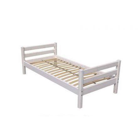 """80-01102-2 FLEXA Classic bed met voorgespannen lattenbodem, open H/V einde """"Line"""". (matrasmaat 90 x 200 cm.) exclusief matras. KLEUR: WHITE WASH. IN ONZE WINKEL TE ZIEN."""
