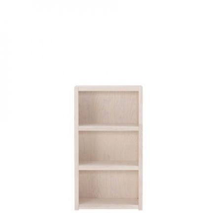 8020-01W Lifetime open boekenkast 3 vaks. Hoogte 120 cm. KLEUR: Wit.
