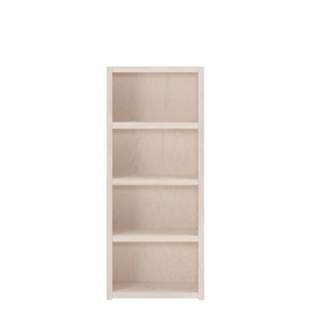 8030-01W Lifetime open boekenkast 4 vaks. Hoogte 159 cm. KLEUR: WHITE WASH.