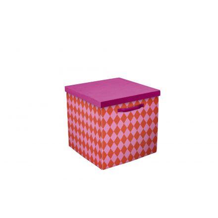 82-70072 FLEXA Prinses opbergboxen, set van 2 stuks. Kleur roze/rood. LAATSTE BESCHIKBARE VOORRAAD, DAARNA GAAT DIT ARTIKEL UIT DE LIFETIME COLLECTIE.