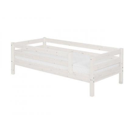 90-10122-2-01 FLEXA Classic bedbank inclusief lattenbodem, 1/1 en 3/4 uitvalbeveiliging. (matrasmaat 90 x 200 cm.) KLEUR: WHITE WASH.
