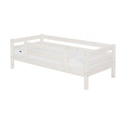 90-10134-2-01 FLEXA Classic bedbank inclusief lattenbodem, 1/1 en 1/2 uitvalbeveiliging. (matrasmaat 90 x 200 cm.) KLEUR: WHITE WASH.