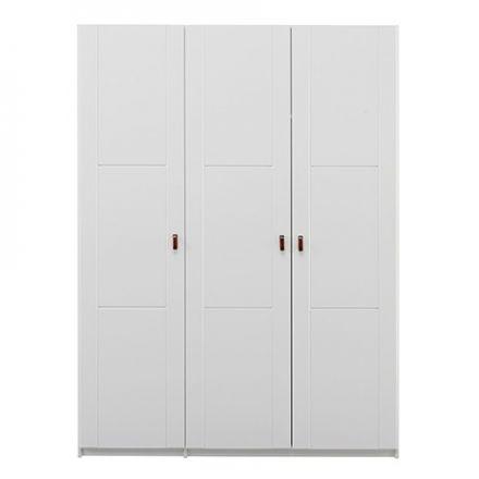 97005-10 LIFETIME Kledingkast met 3 deuren. Breedte 150 cm. Kleur wit.