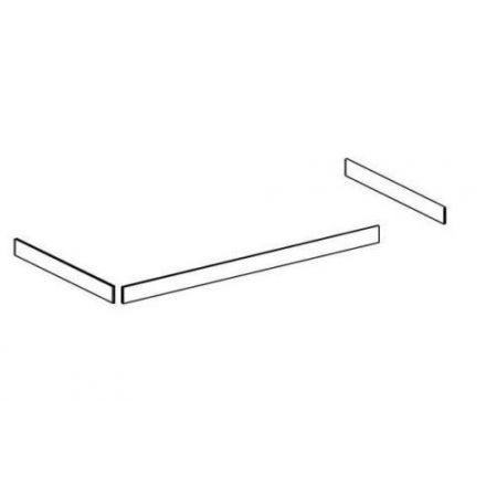 80-16902-2 80-16901-2 THUKA TRENDY BASIC HIT Vulpanelen voor 3/4 uitvalbeveiliging, hoofd en- voeteinde. Slaapmaat 90 x 200 cm. KLEUR: WHITE WASH.